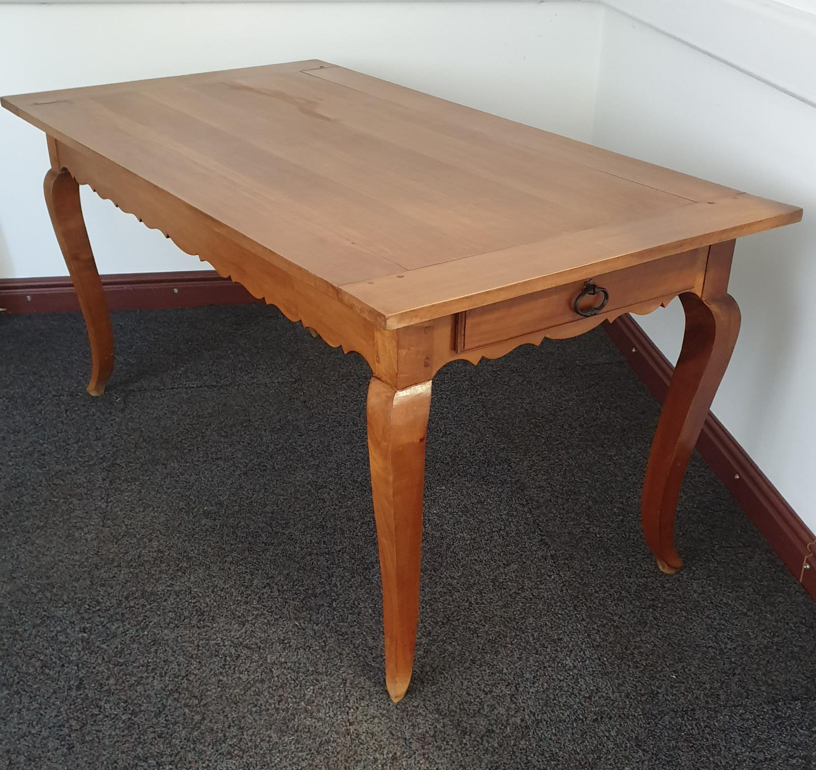 French Cherry Farmhouse Kitchen Refrectory Dining Table (1 of 1)