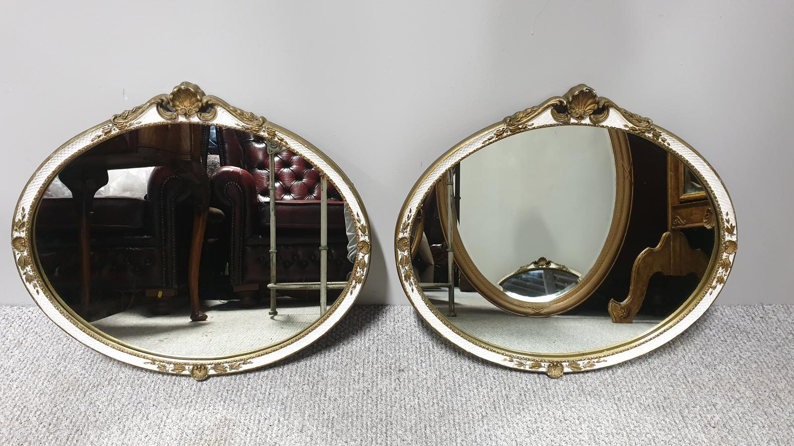 Pair of Oval Mirrors (1 of 1)