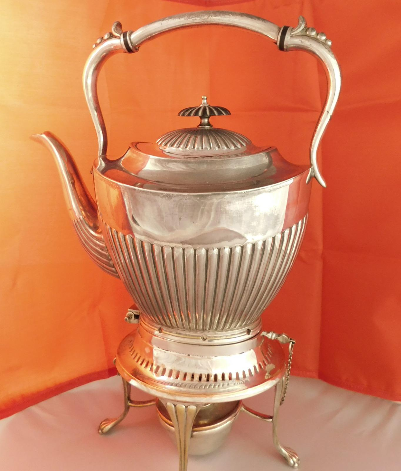 Barker Brothers Victorian 'Britanoid' Silver Plated Spirit Kettle (1 of 1)