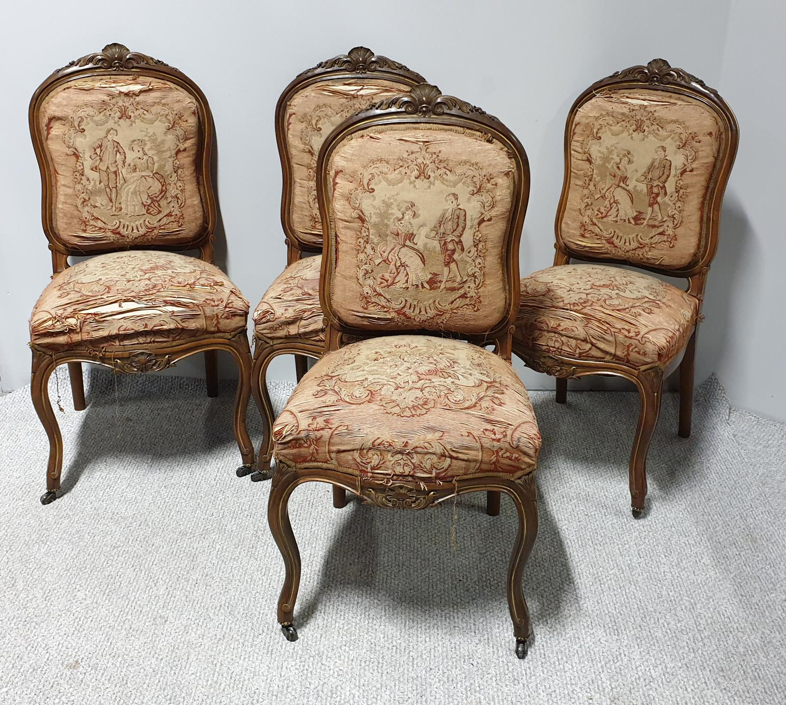 Four French Country House Salon Dining Chairs (1 of 1)