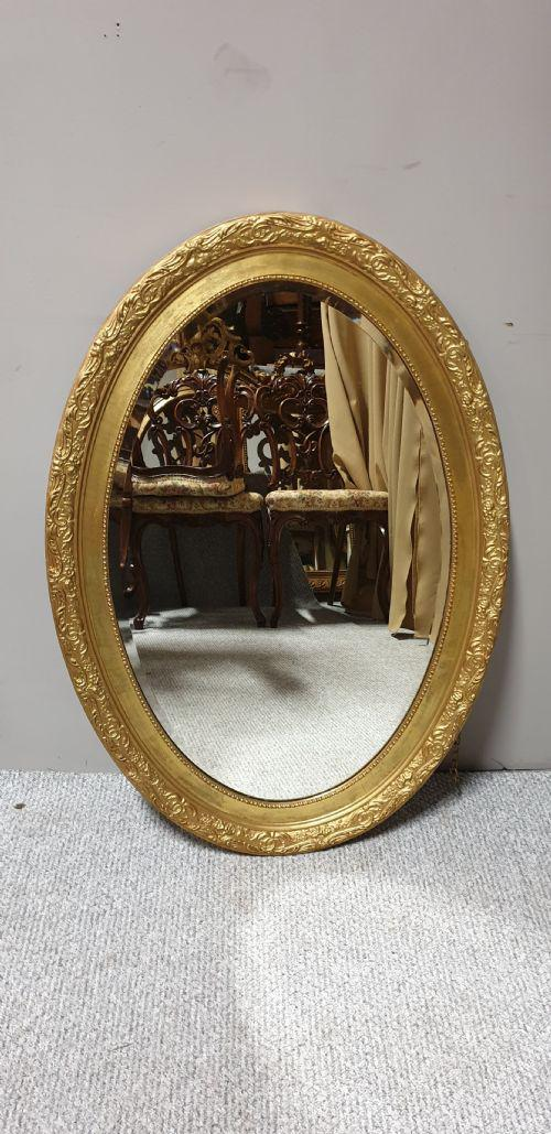 Large  Oval Gilt Mirror (1 of 1)