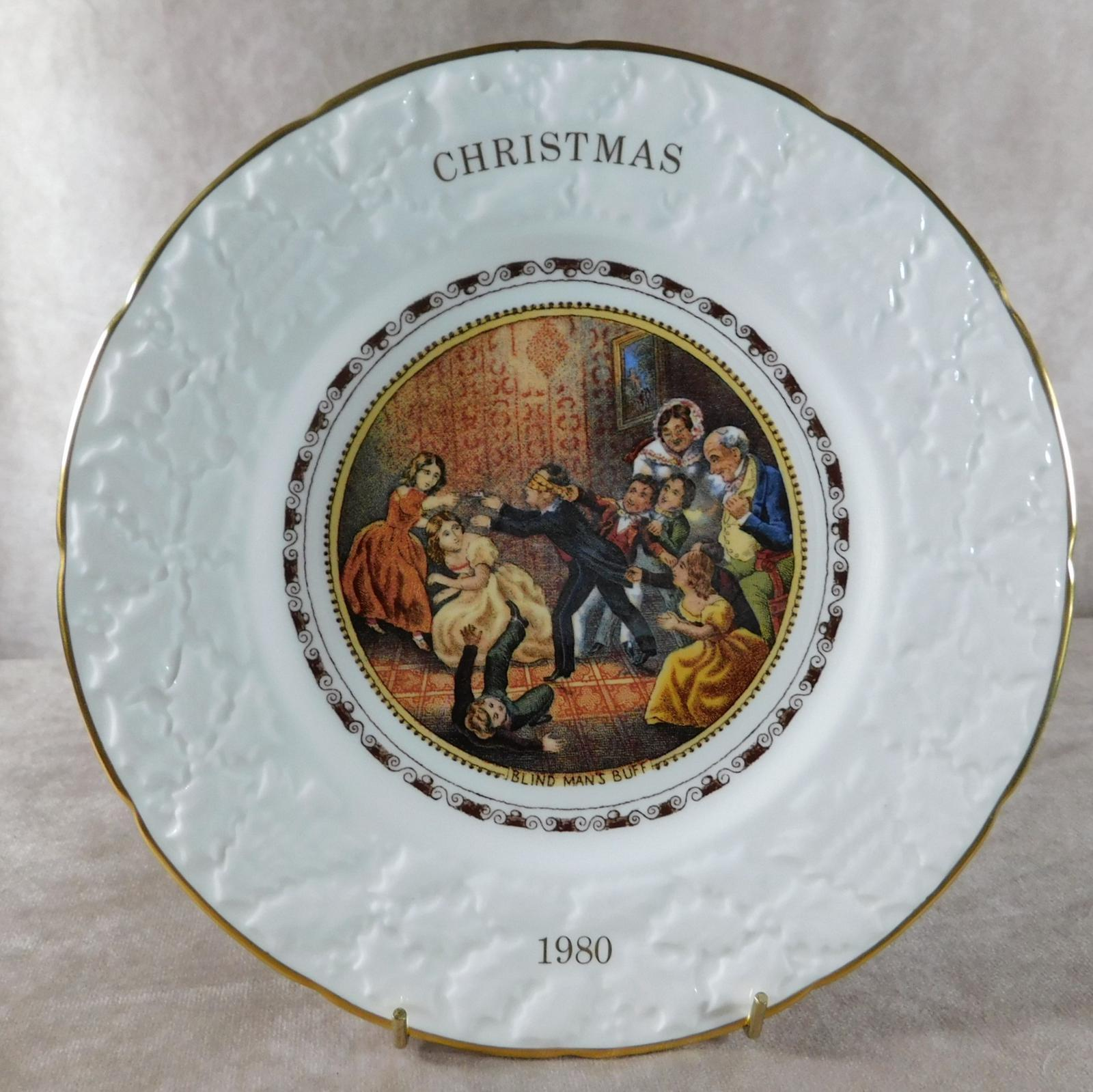 """""""Blind Man's Buff"""" Christmas Plate by Coalport (1 of 1)"""