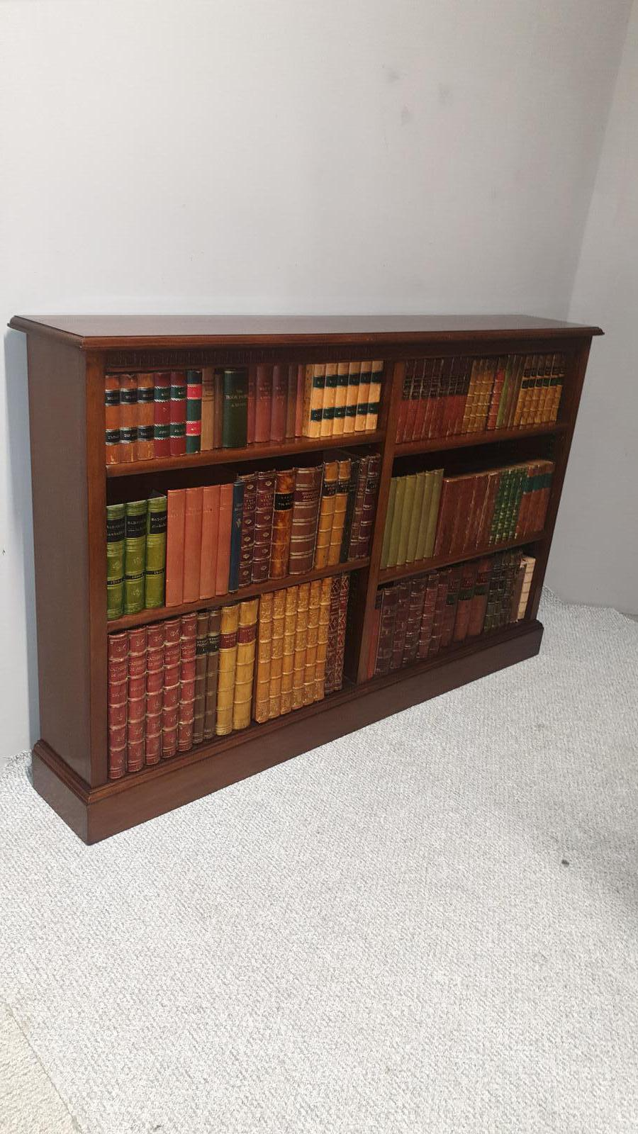 Top Quality Mahogany Open Adjustable Bookcase (1 of 1)