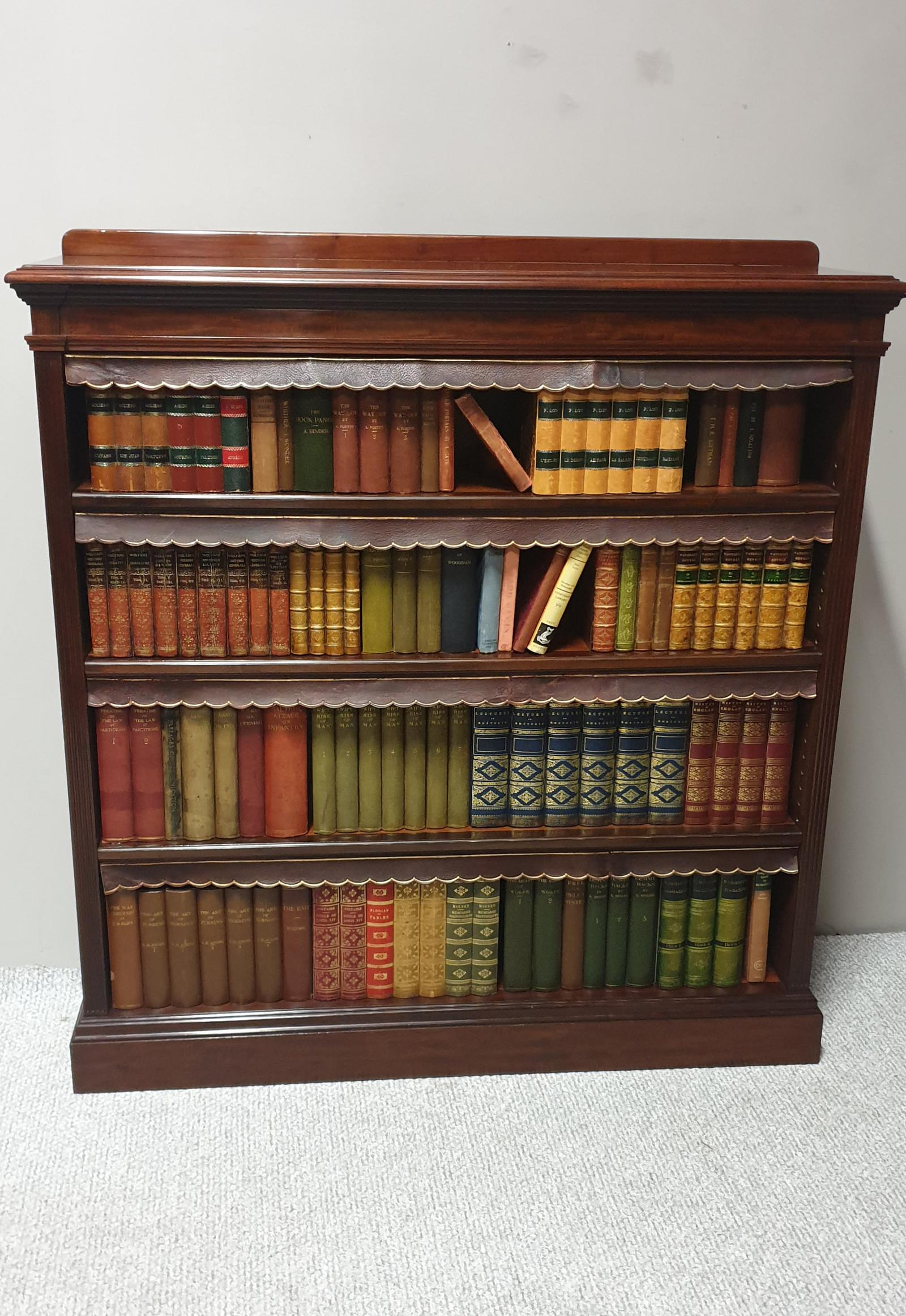 Top Quality Mahogany Open Bookcase (1 of 1)