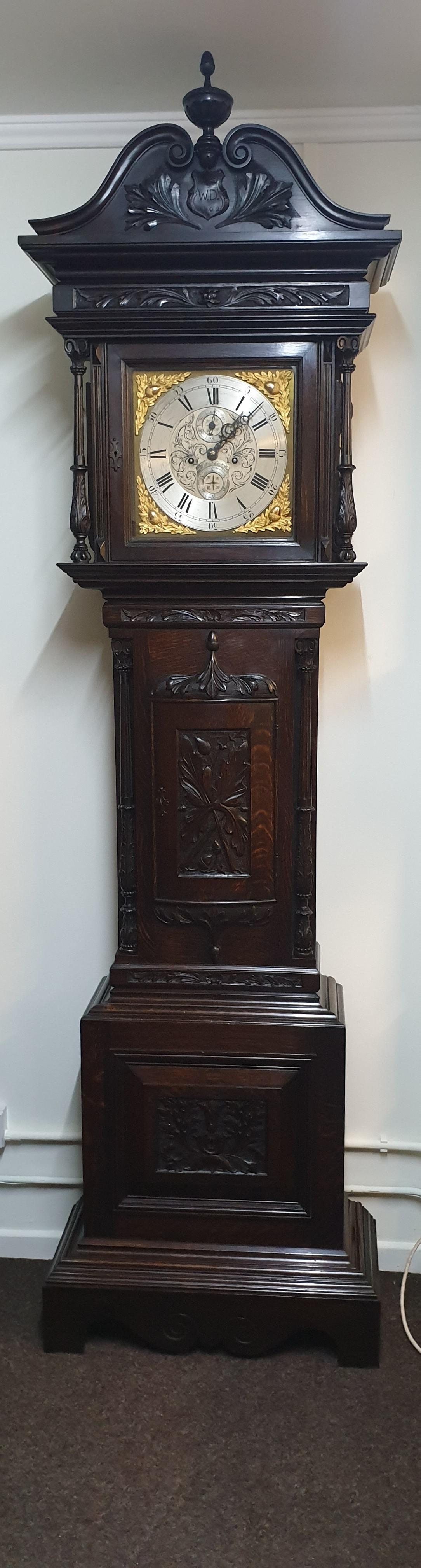 Outstanding Oak Grandfather Clock - William Evans (1 of 1)