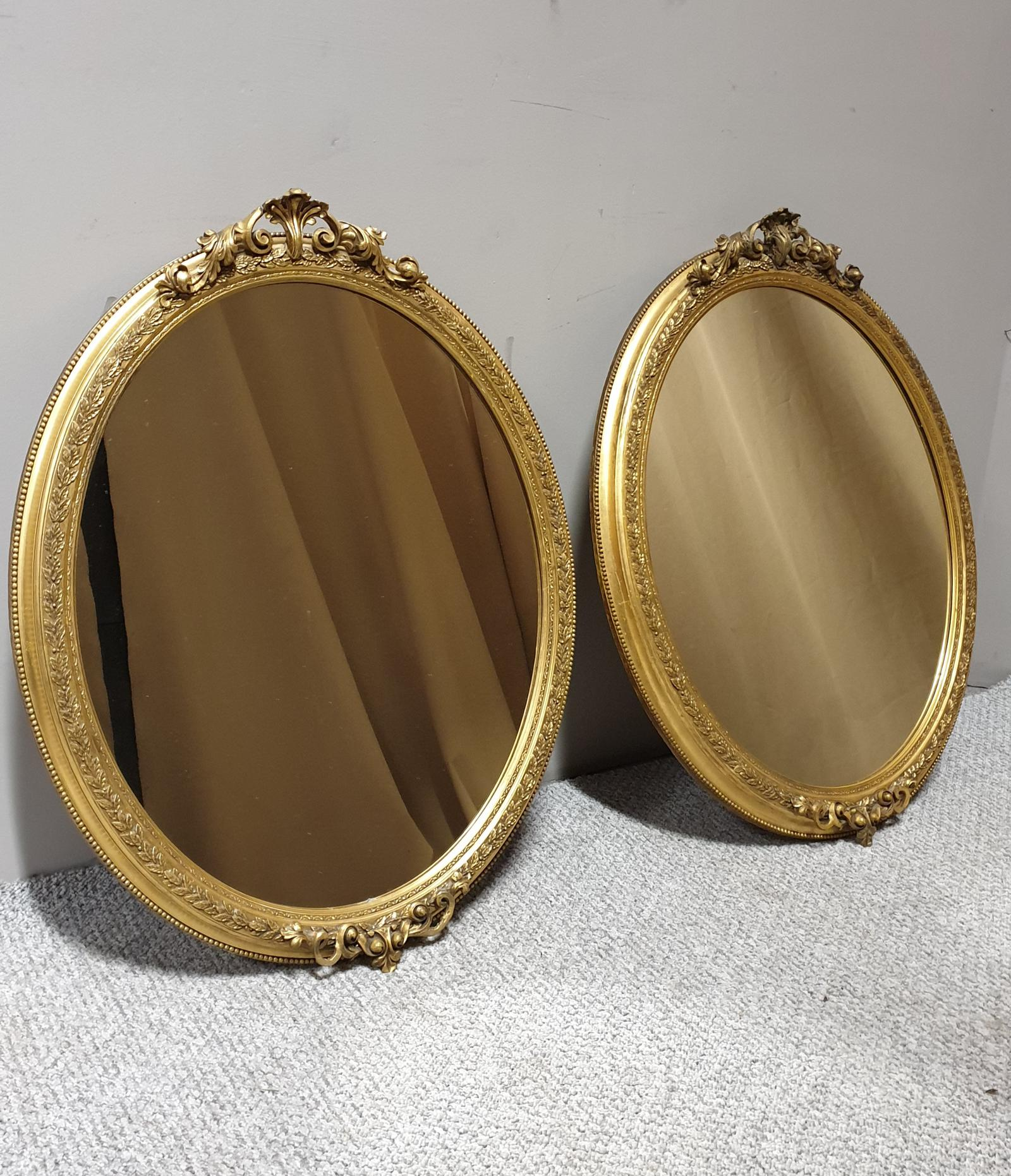 Superb Quality Victorian Oval Gilt Wall Mirrors (1 of 1)