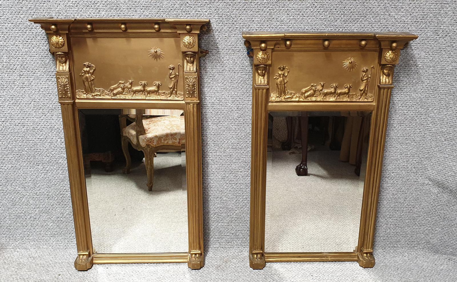 Very Near Pair of Regency Gilt Mirrors (1 of 1)