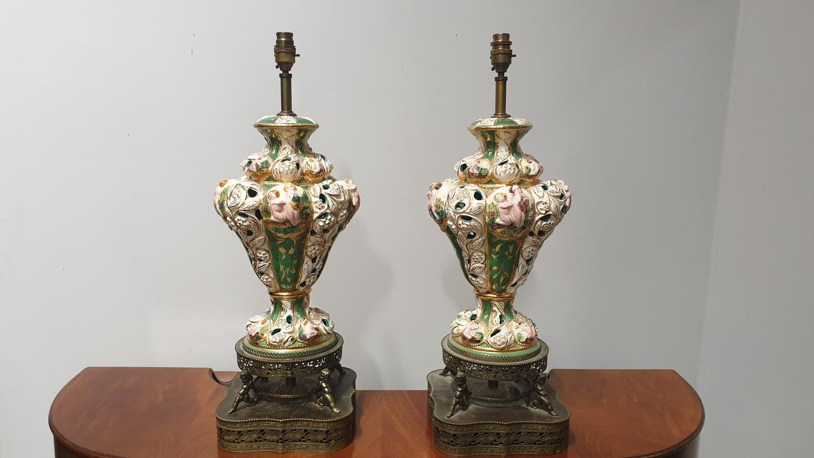 Large Pair of Italian Lamps (1 of 1)