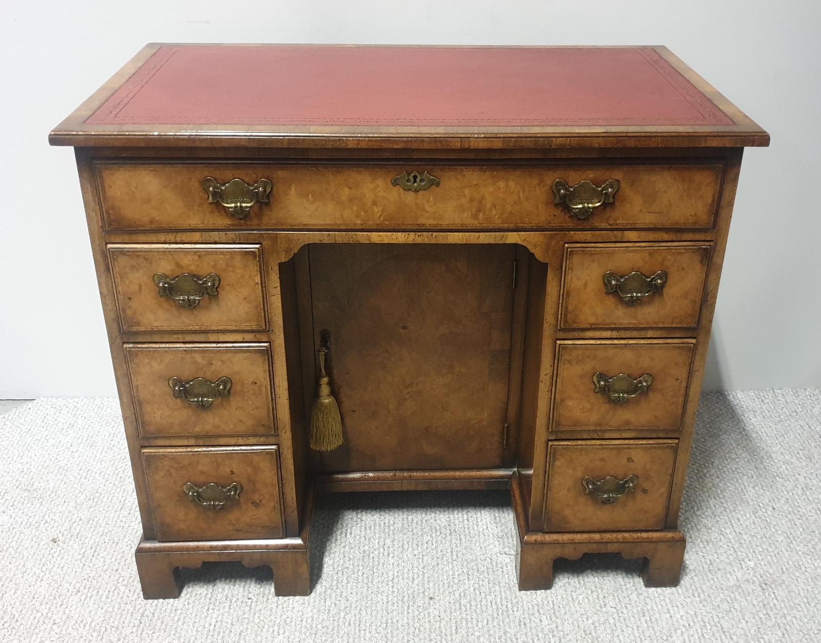 Queen  Anne Burr Walnut Desk (1 of 1)