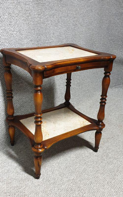 Two Tier Marble Table (1 of 1)