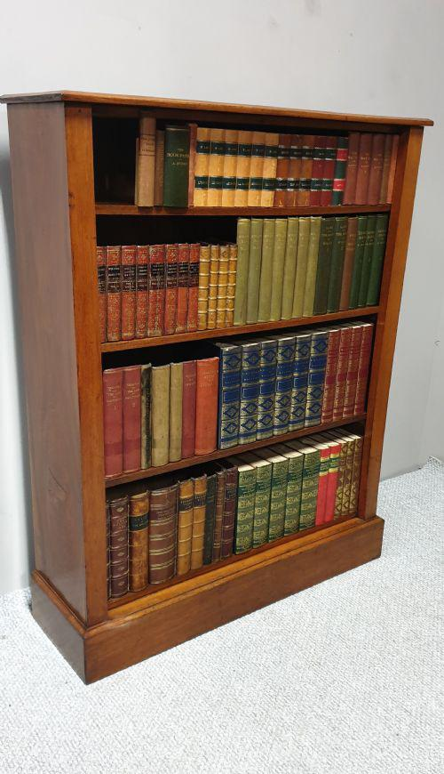 Victorian Mahogany Open Library Bookcase (1 of 1)