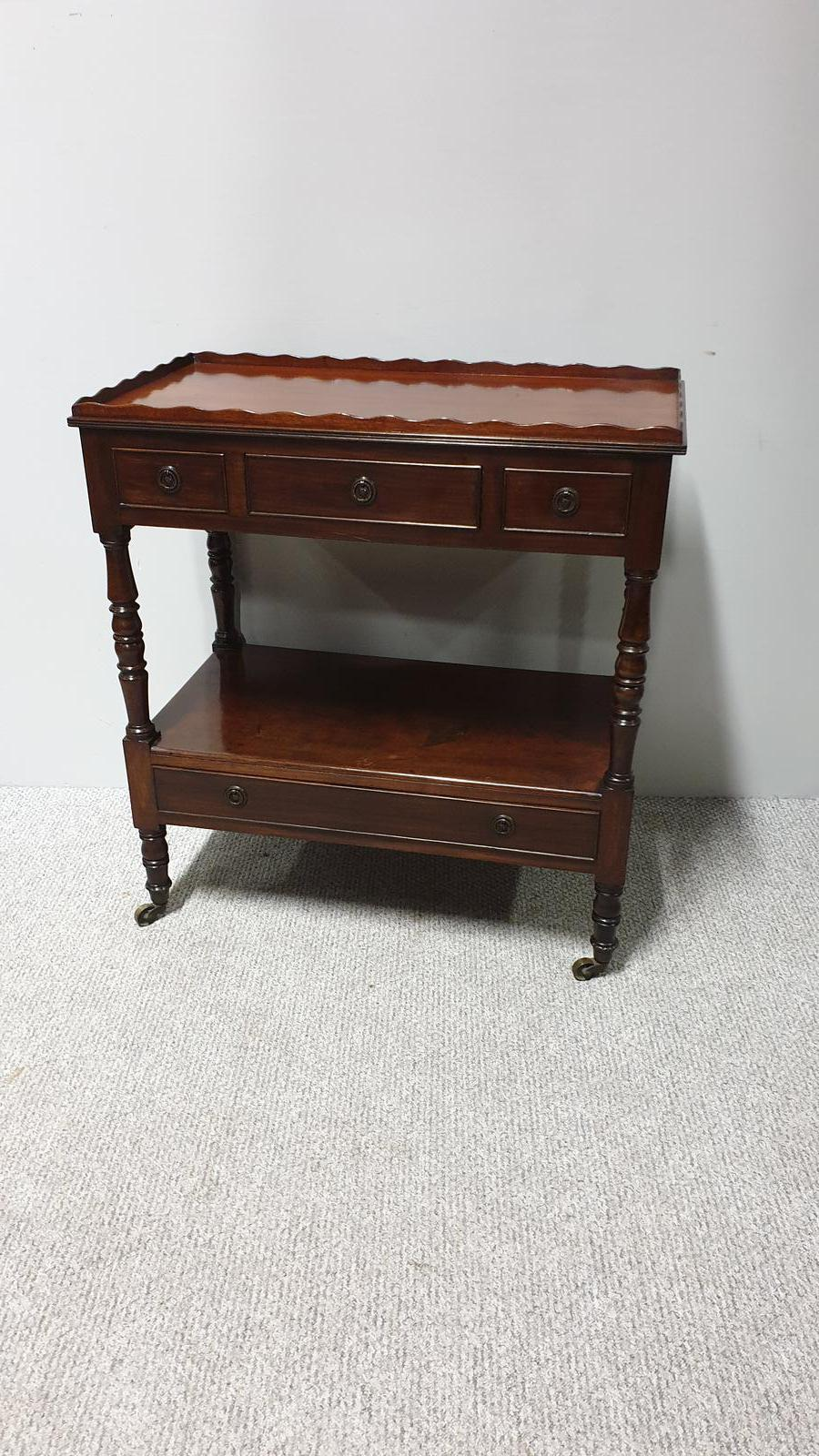Good Mahogany Two Tier Trolley (1 of 1)