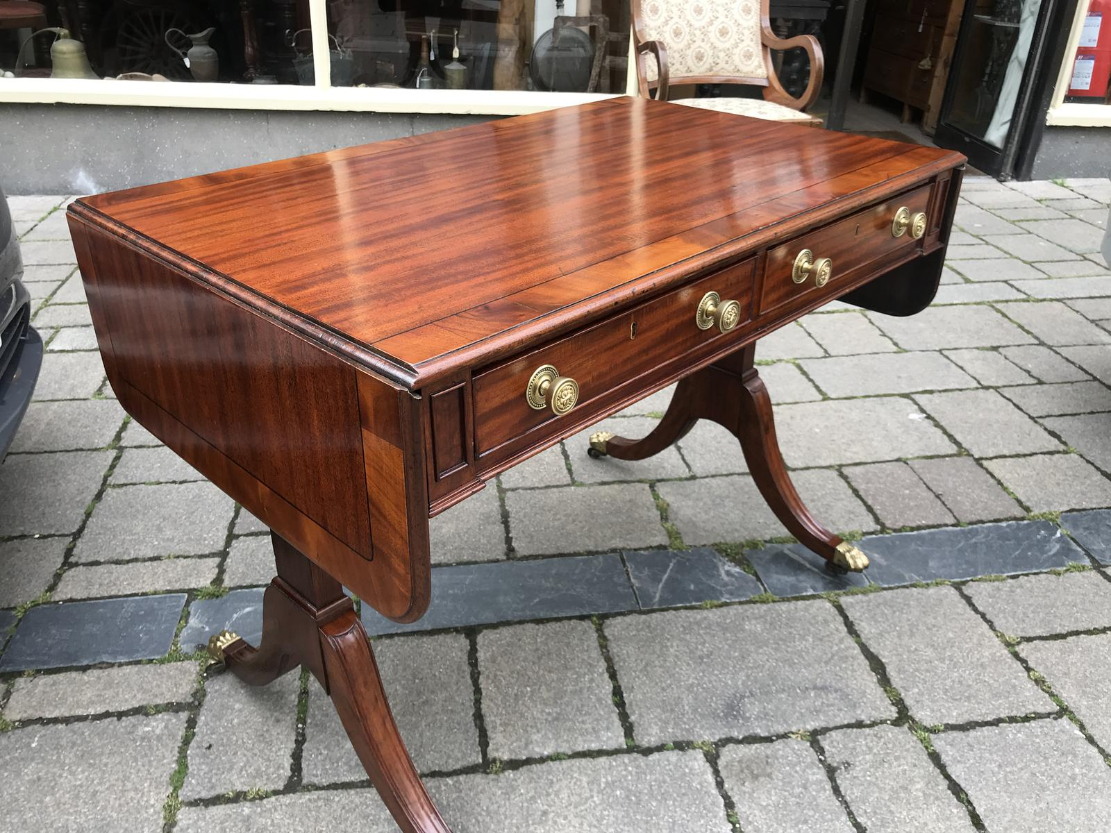 Mahogany Inlaid Sofa Table (1 of 1)