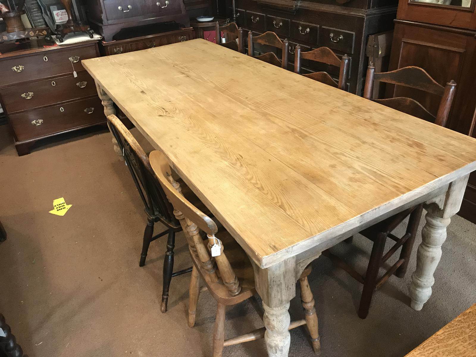 Very Good Late Victorian Antique Pine Table (1 of 1)