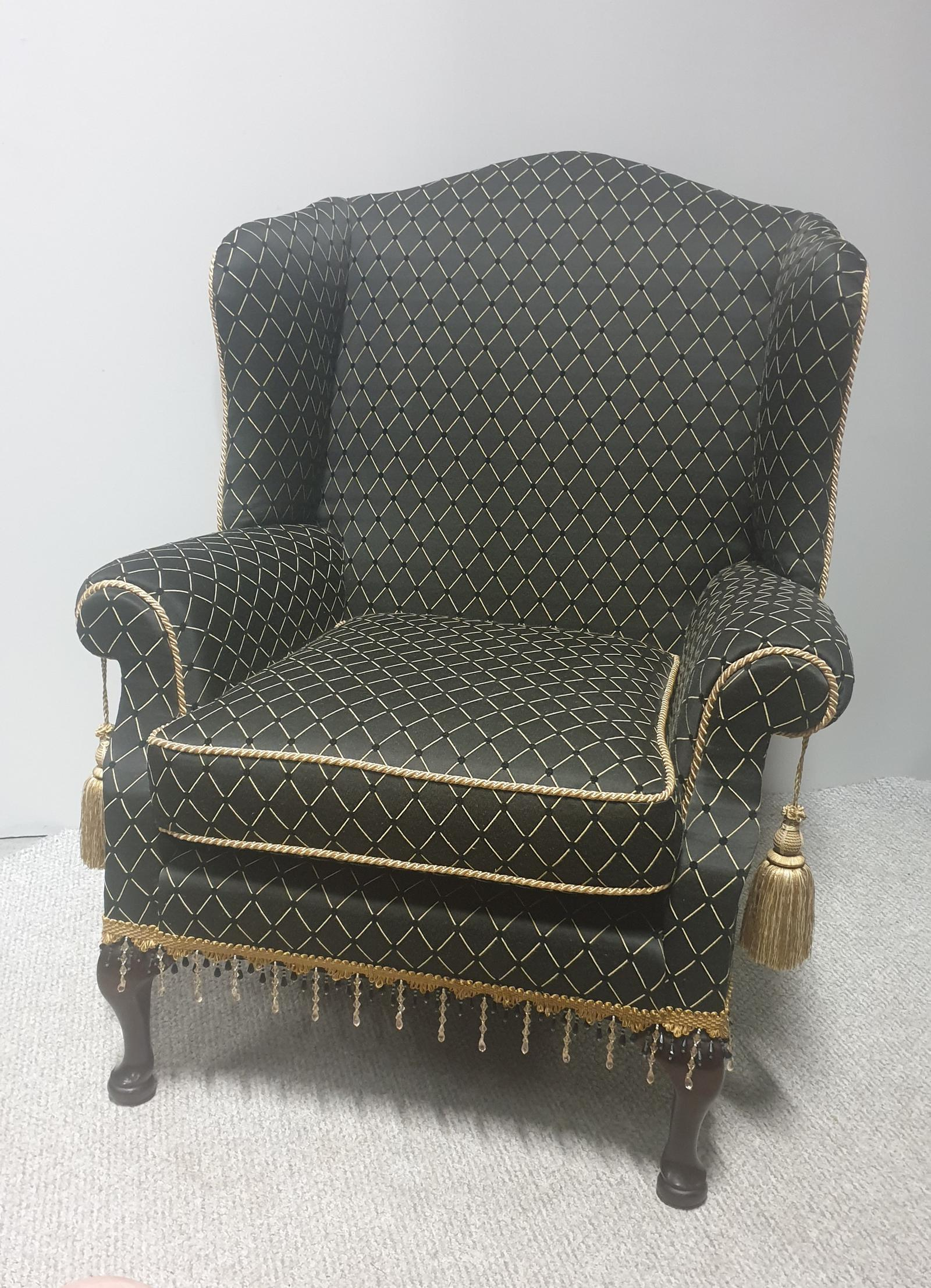 Georgian Style Upholstered Wing Armchair c.1920 (1 of 1)