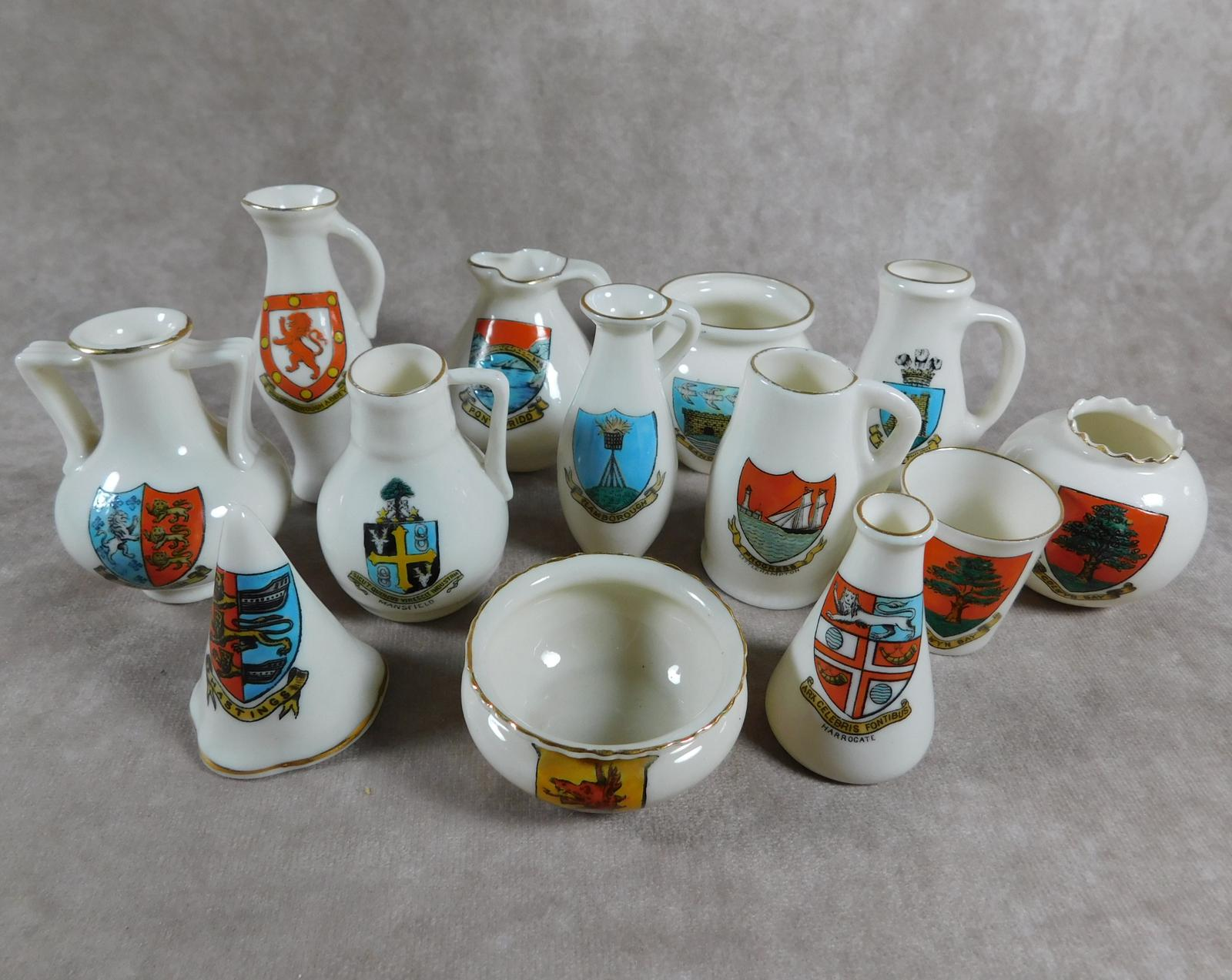 Collection of W.H Goss Crested Ware, Heraldic, Souvenir China (1 of 1)