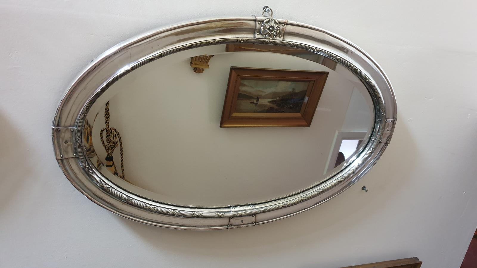 Edwardian Silver Plated Mirror (1 of 1)