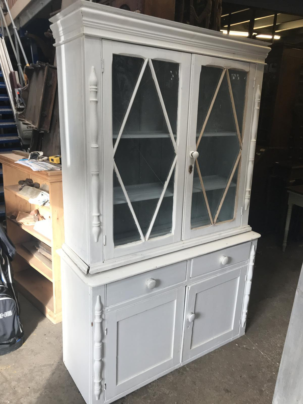 Pine Victorian Cornish Painted Dresser (1 of 1)