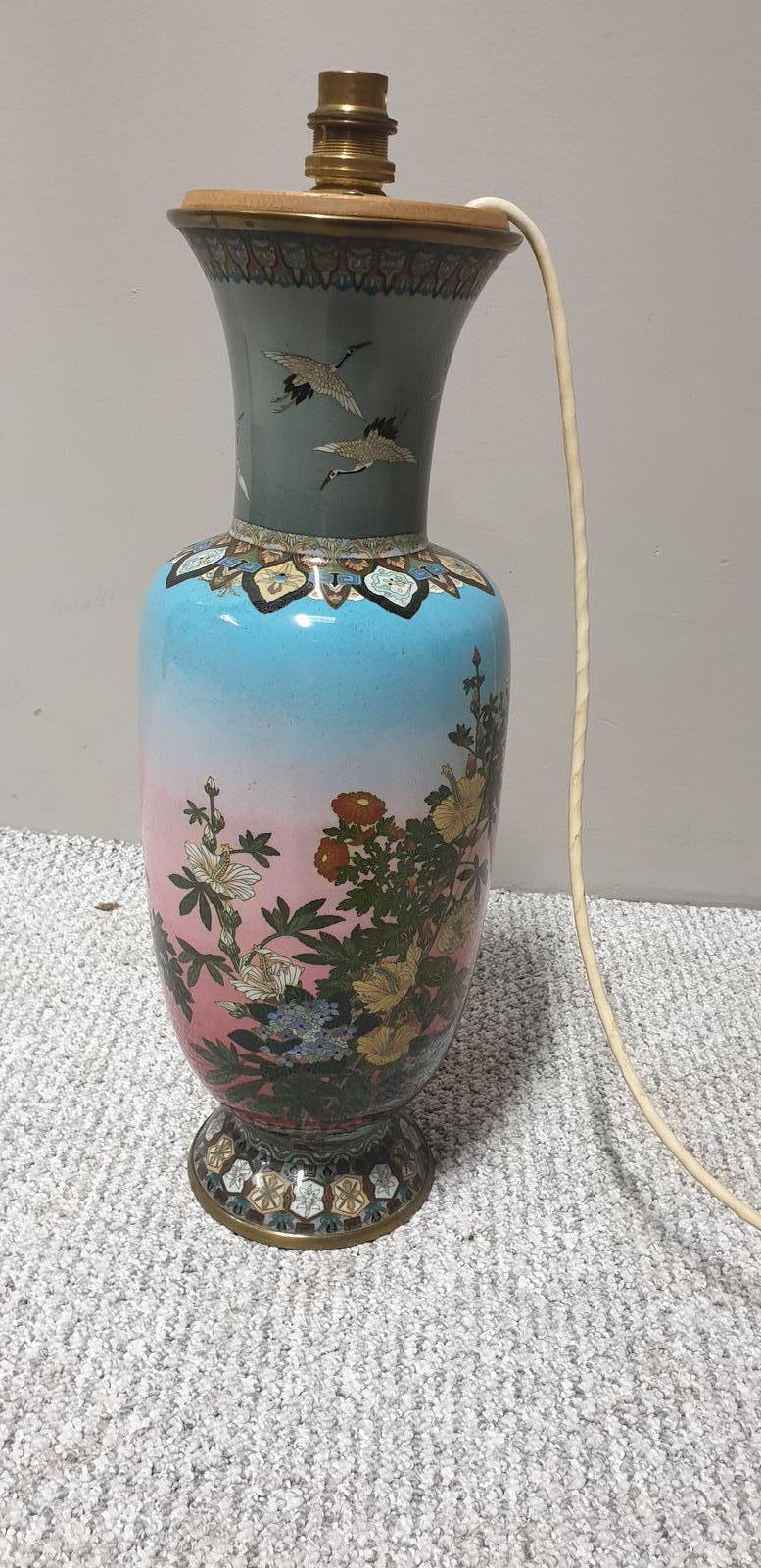 Large Cloisonne Lamp (1 of 1)