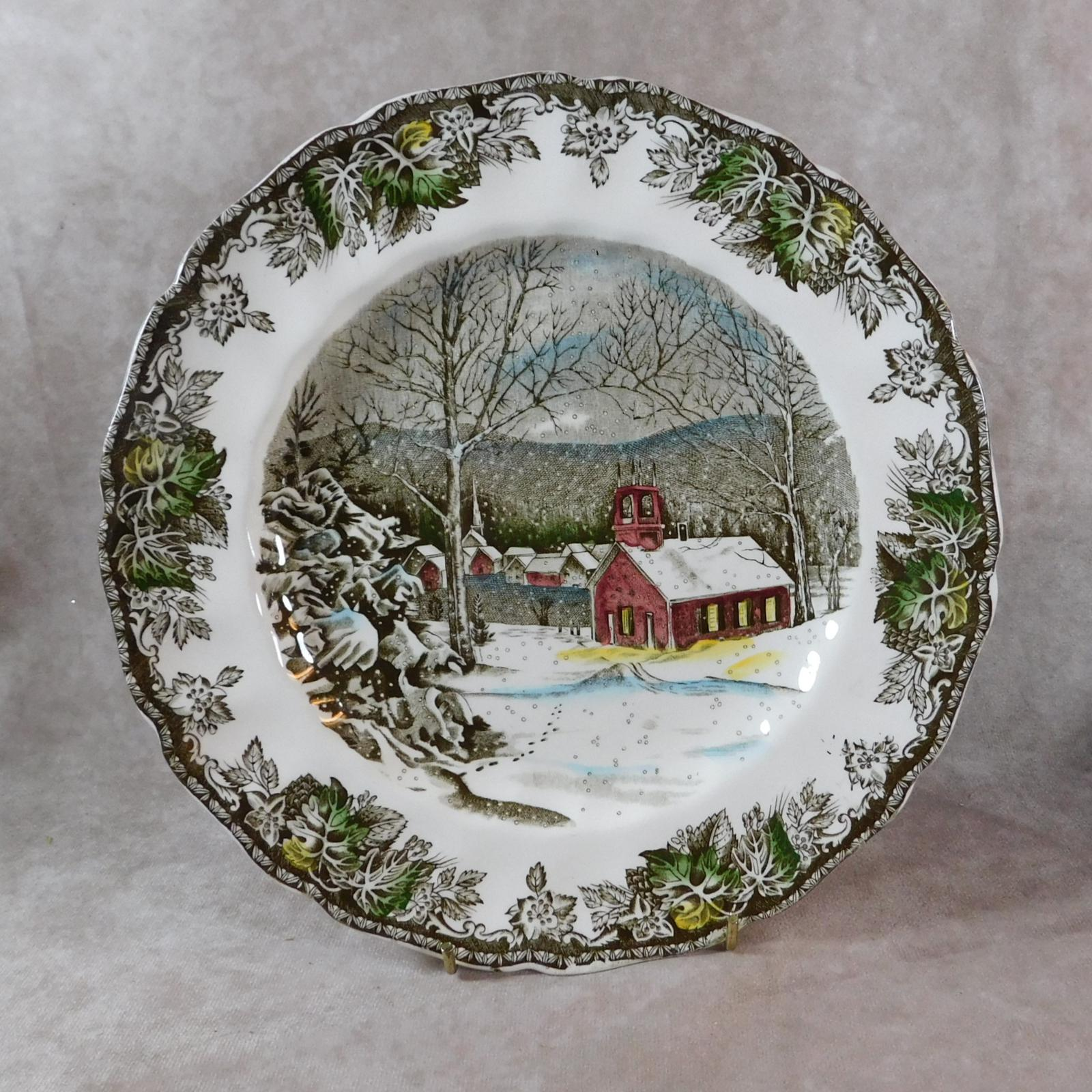 Johnson Brothers, The Friendly Village Series, The School House Plate (1 of 1)