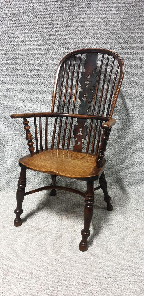 Tall Yew Wood Windsor Chair (1 of 1)