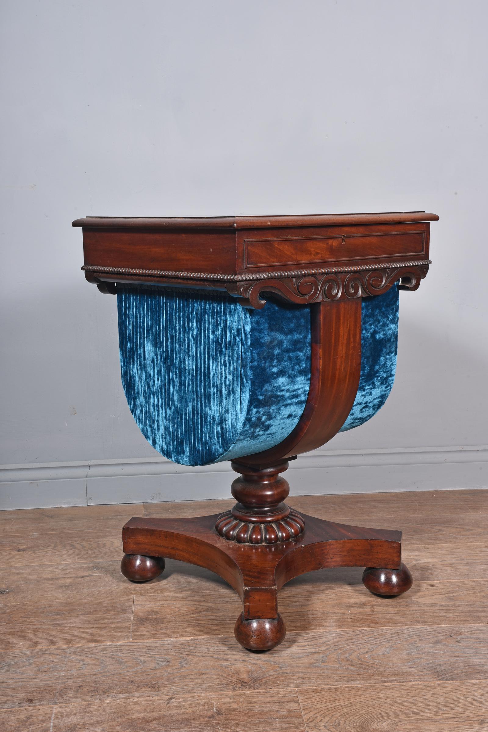 Regency mahogany work table lamp table (1 of 1)
