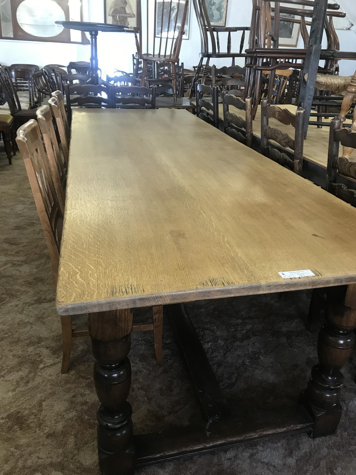 Large Farmhouse Oak Refectory Table (1 of 1)
