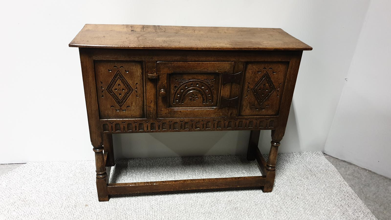 Oak Side Cabinet of Small Proportions (1 of 1)