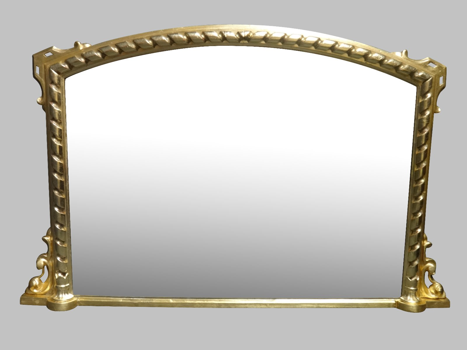 Fine English Arched Top Overmantle Mirror (1 of 1)