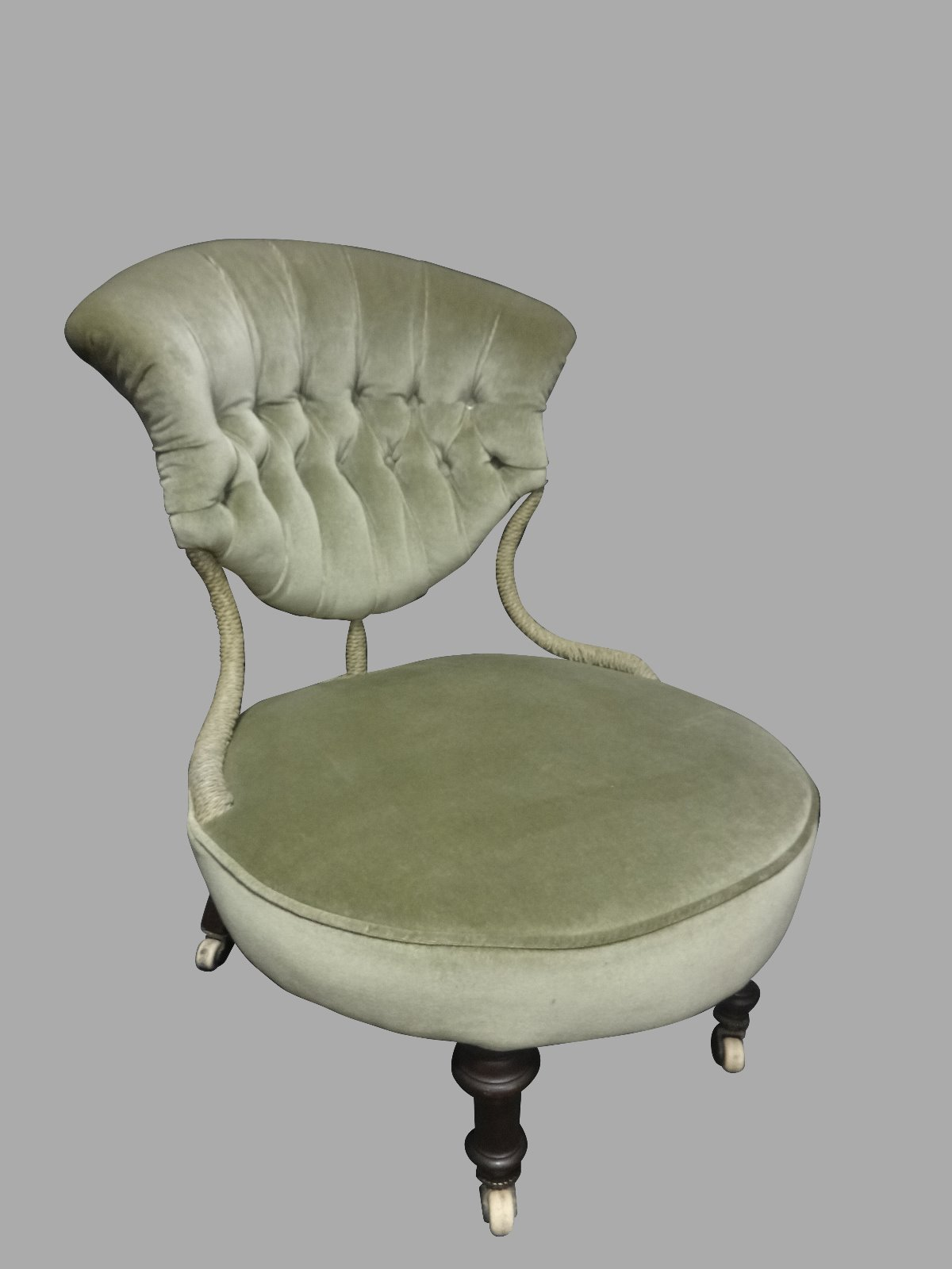 Good Deep Buttoned Chair c.1880 (1 of 1)
