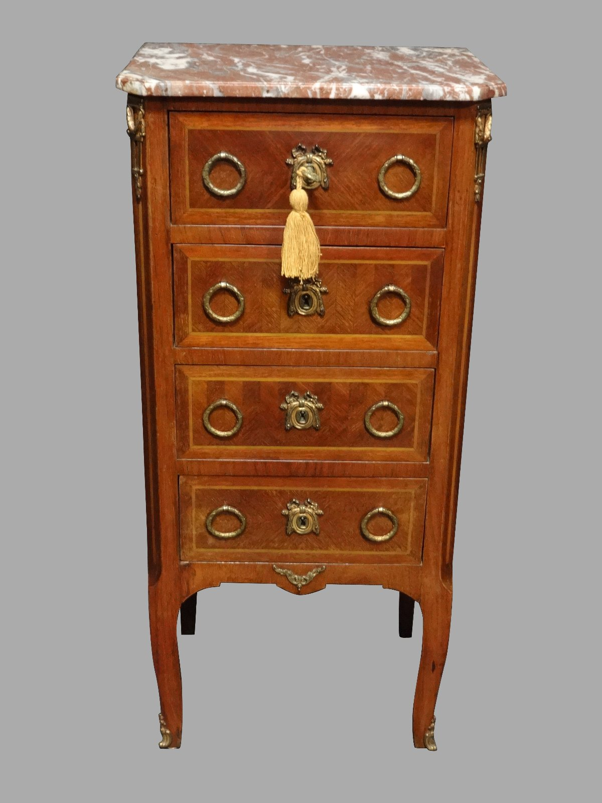 Very Good French Tulipwood Chest of Four Drawers c.1910 (1 of 1)