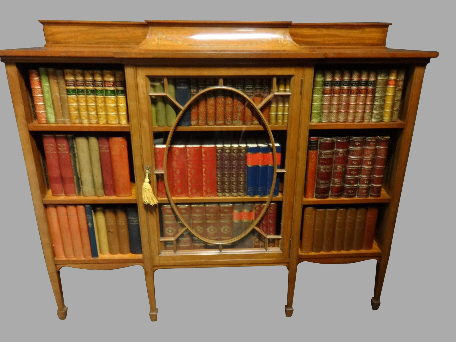 Top Quality Inlaid Satinwood Adjustable Bookcase C.1910 (1 of 1)