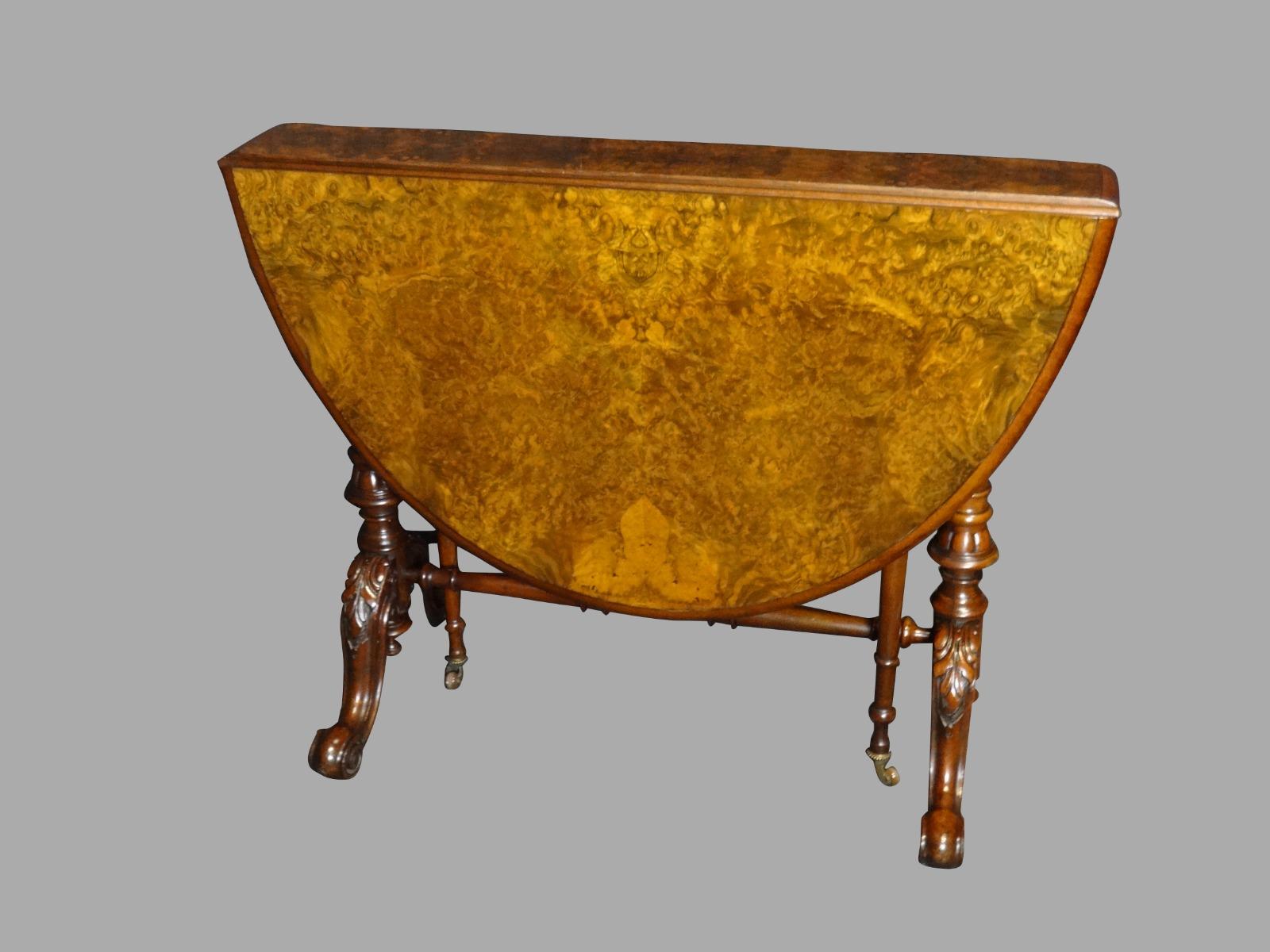 Very Good Victorian Burr Walnut Sutherland Table (1 of 1)
