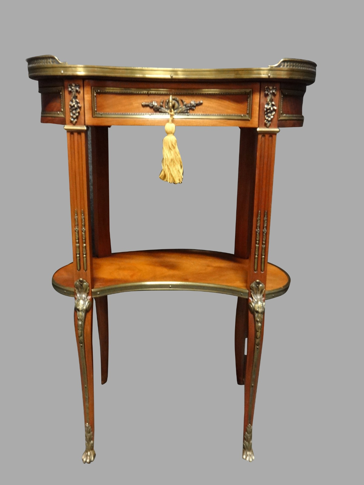 Very Good French Mahogany & Marble Side Table (1 of 1)