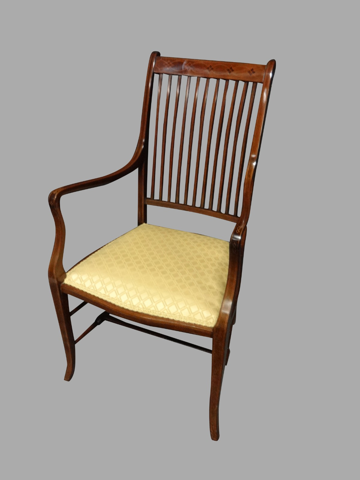 Very Good Edwardian Inlaid Elbow Chair (1 of 1)