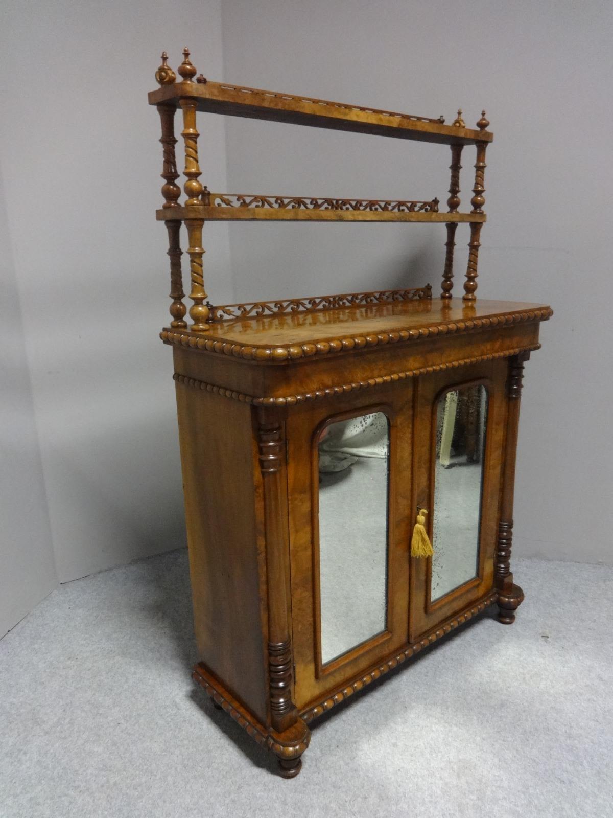 Pretty Victorian Burr Walnut Chiffonier (1 of 1)