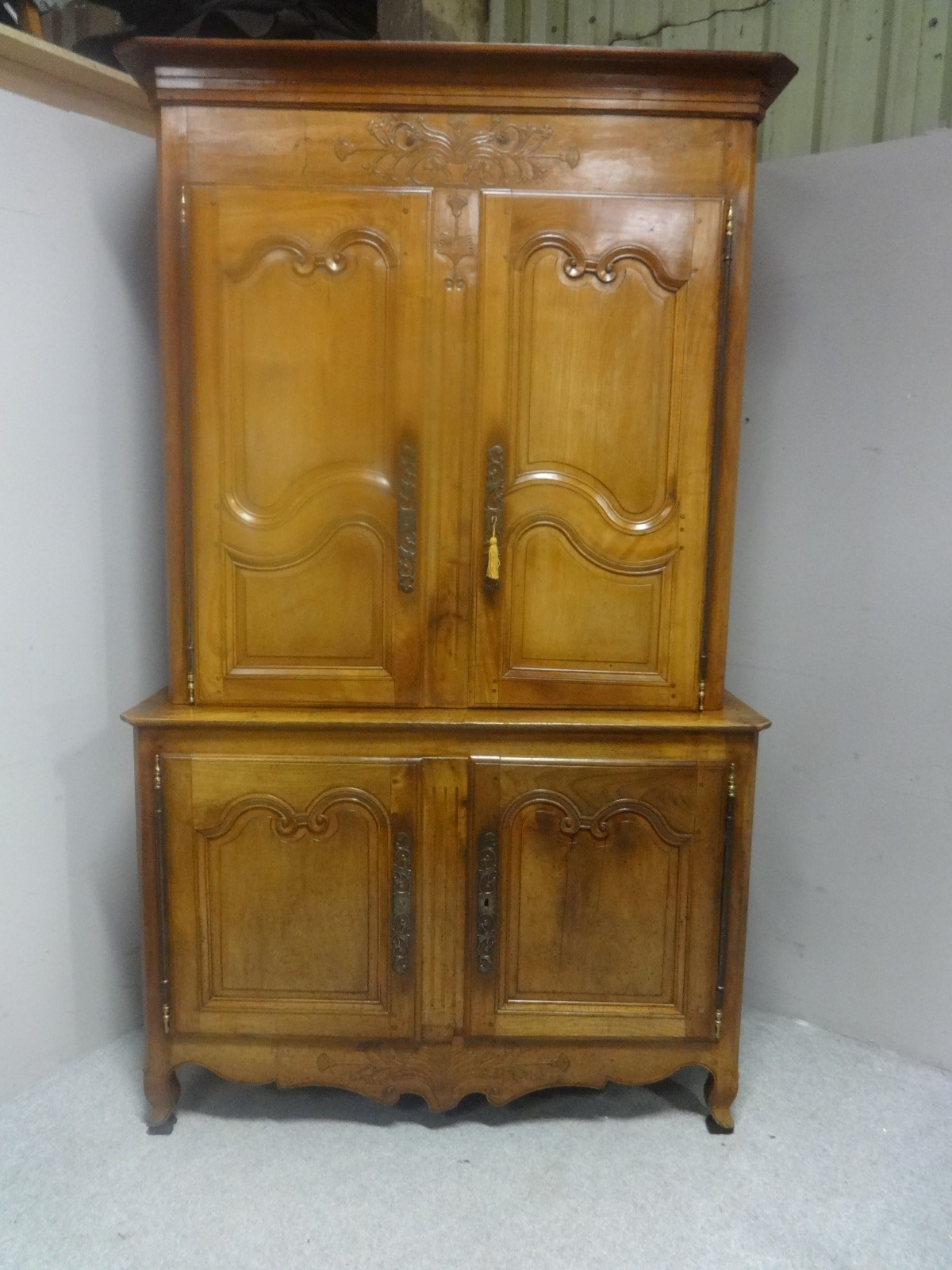 Fabulous French Provincial Fruitwood Cupboard c.1790 (1 of 1)