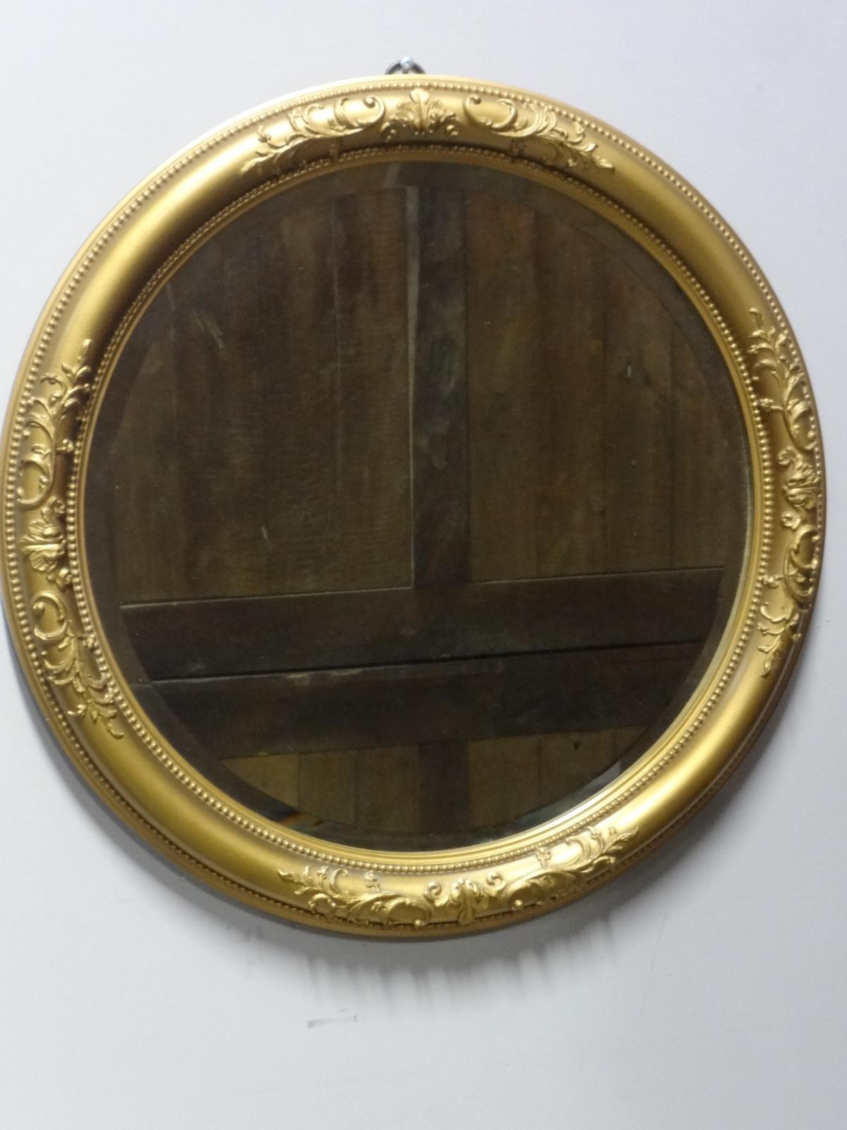 Good Round Gilt Mirror (1 of 1)