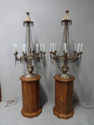 Superb Pair of Gilt Metal Electrolier Lamps, with Provenance (1 of 1)