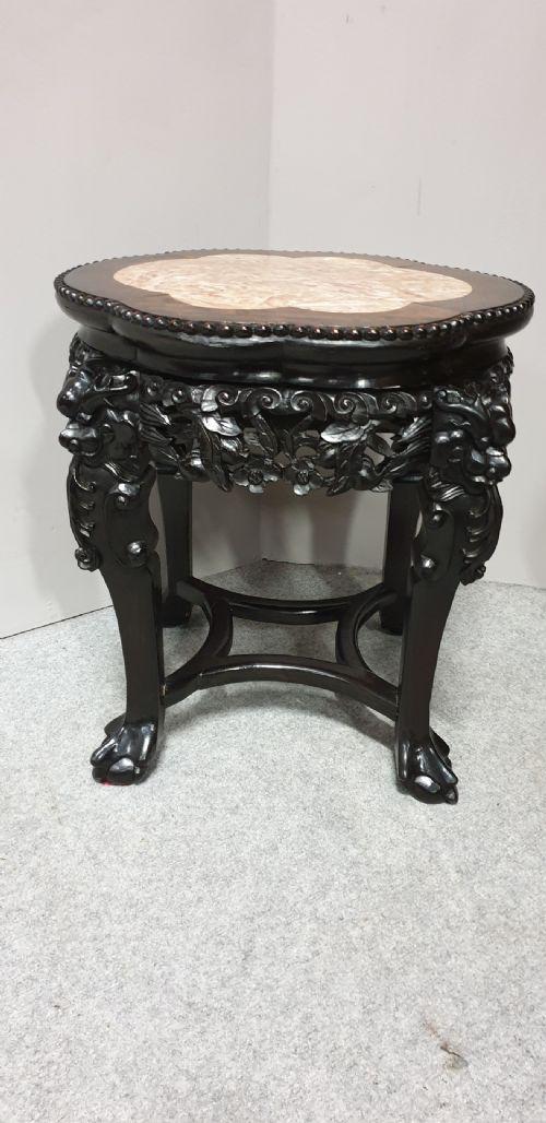 Good Oriental Padauk Stand c.1870 (1 of 1)