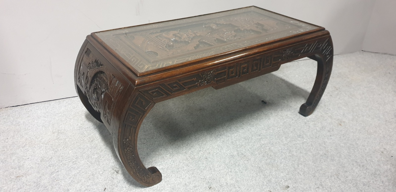 Oriental Carved Opium Table c.1920 (1 of 1)