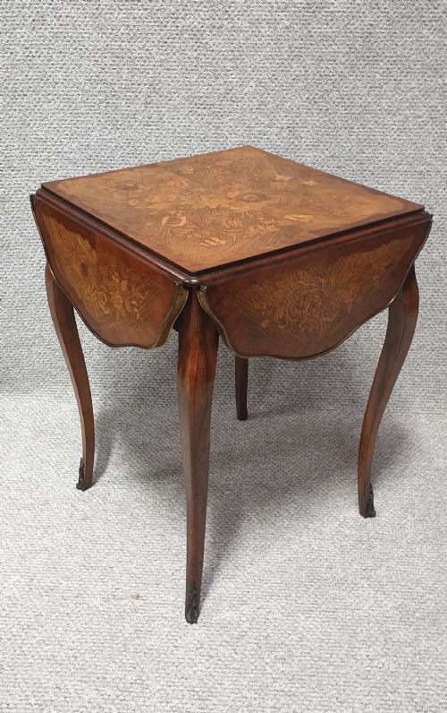 English Marquetry Drop Flap Table c.1880 (1 of 1)