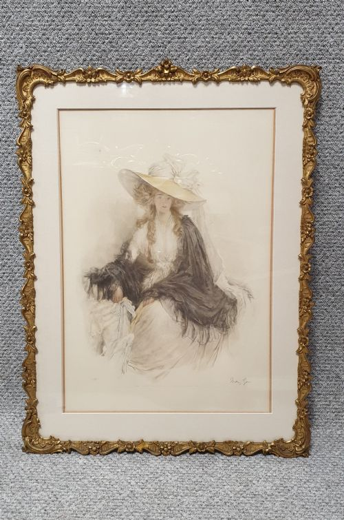 Coloured Lithograph Mary Louise Gow (1 of 1)