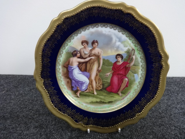 Angelica Kauffman Cabinet Plate c.1910 (1 of 1)