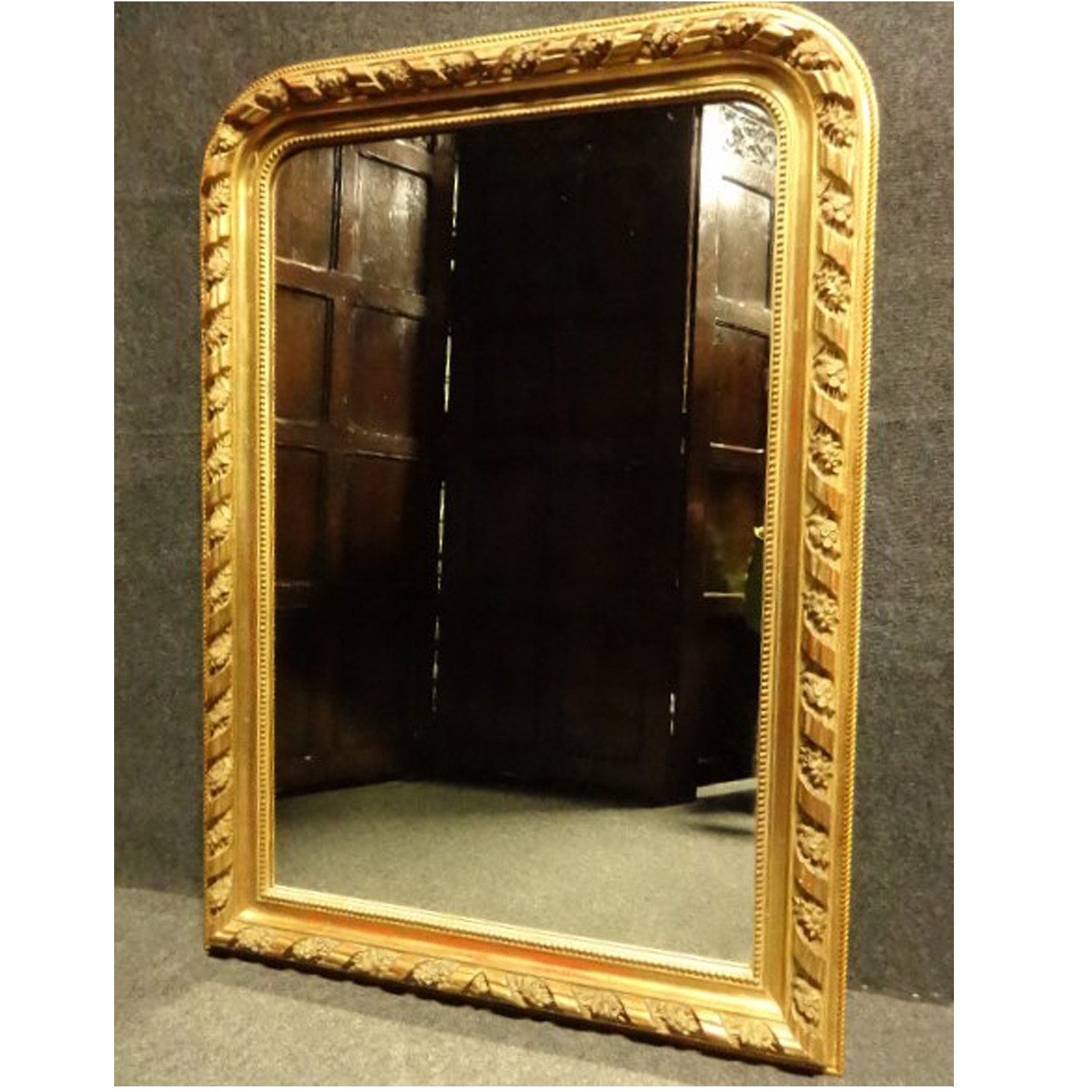 Good French Louis Philippe  Water Gilded Mirror c.1850 (1 of 1)