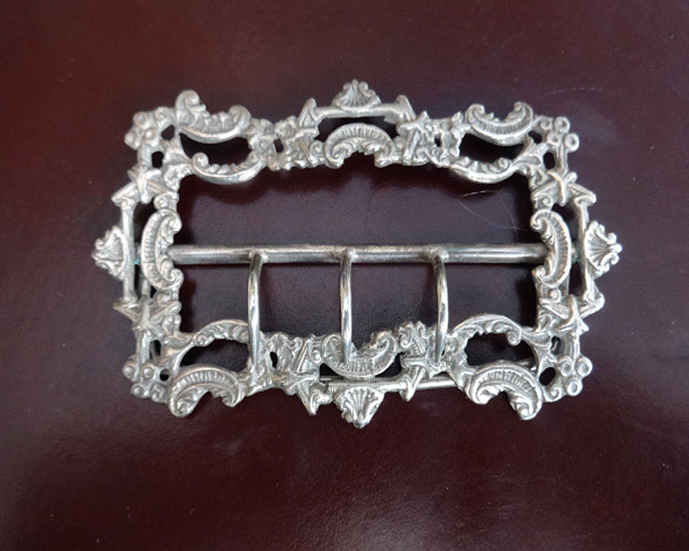 Large Victorian Silver Buckle (1 of 1)