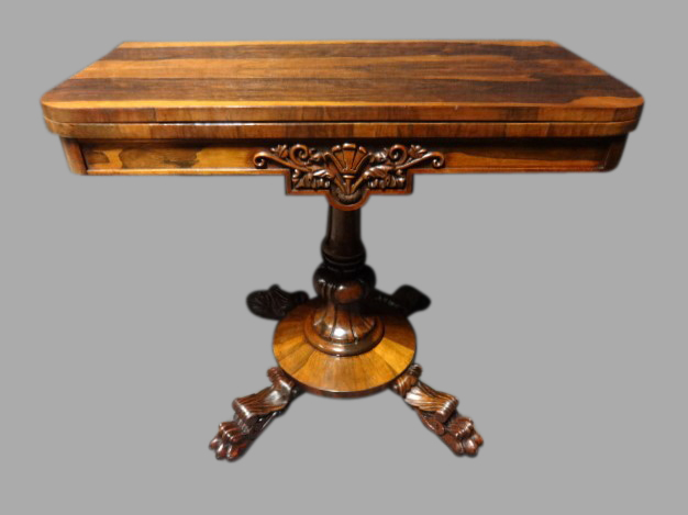 Excellent Quality Regency Card Games Table (1 of 1)