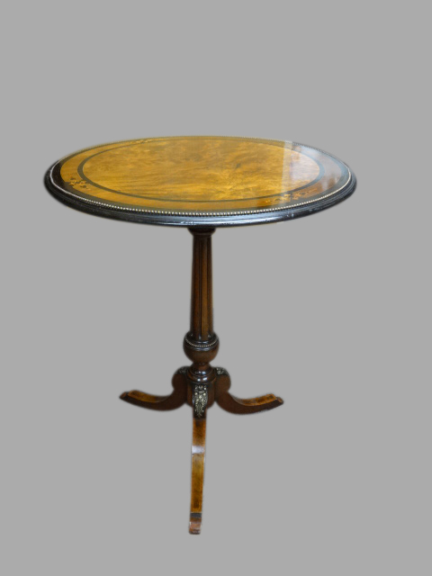 Superb Victorian Brass Mounted Pedestal Table (1 of 1)