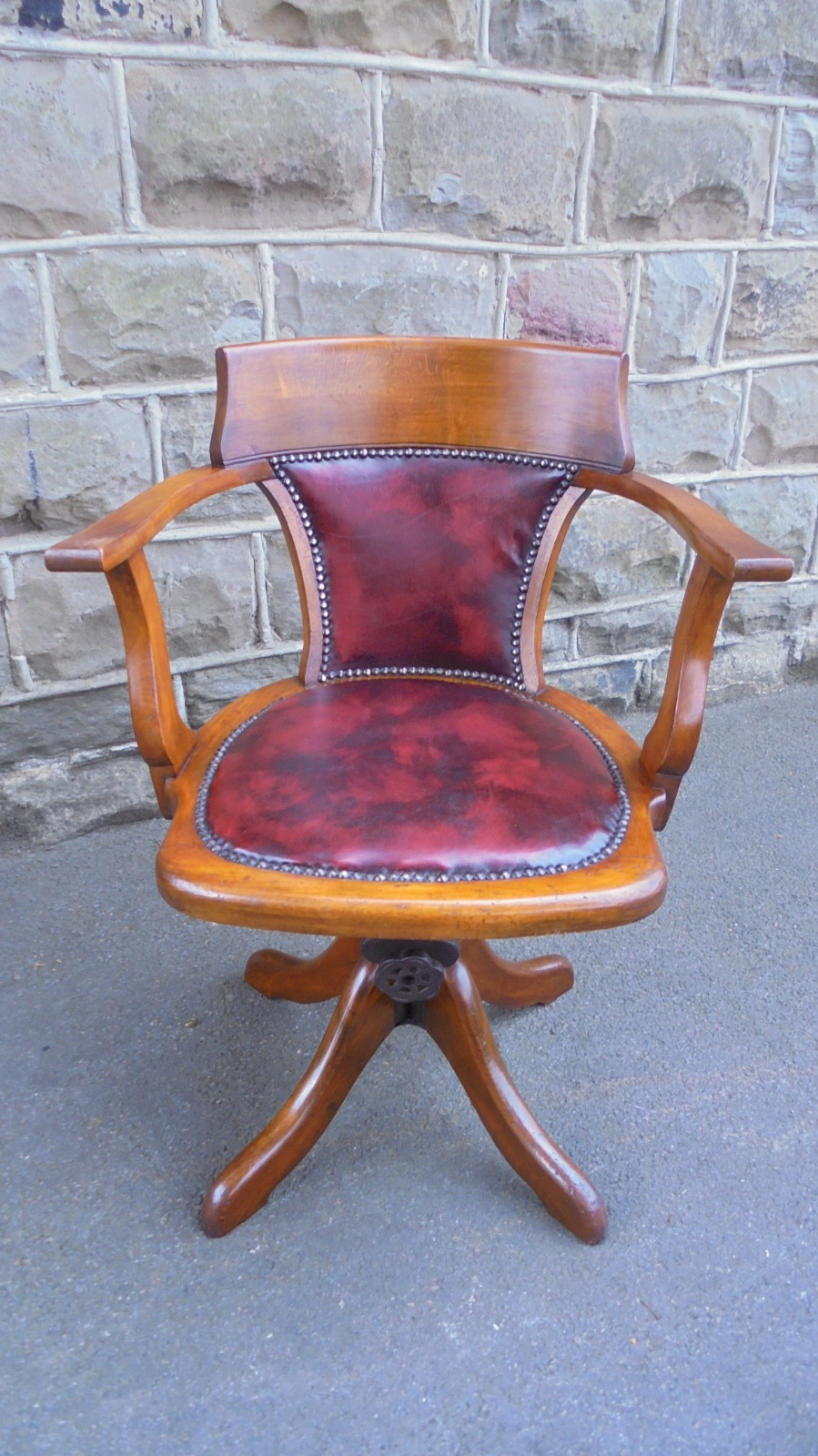 Antique Walnut Revolving Desk Chair Am La116988 Loveantiques Com