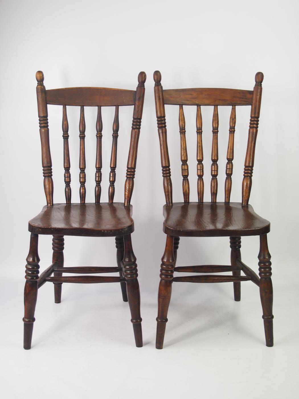 Pair of Antique Victorian Kitchen Chairs - LA8  LoveAntiques.com